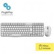 Kit Teclado e Mouse X1800S 2.4 GHZ Branco RA002 Rapoo