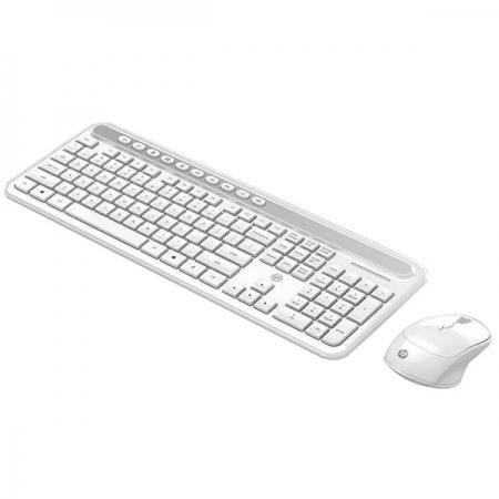 Kit Teclado e Mouse sem Fio CS500 Branco HP