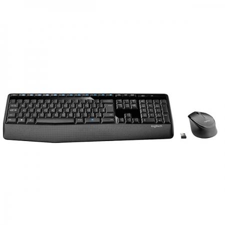 Kit Teclado e Mouse sem Fio Preto MK345 Logitech