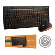Kit Teclado e Mouse sem Fio Sunset OEX TM402