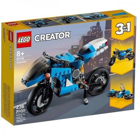 Lego Creator 3 em 1 Supermoto 31114