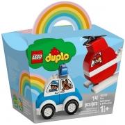 Lego Duplo Helicoptero dos Bombeiros e Carro da Policia 10957