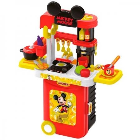 Maleta 3 em 1 Mickey Cozinha com Acessorios Multikids BR1300