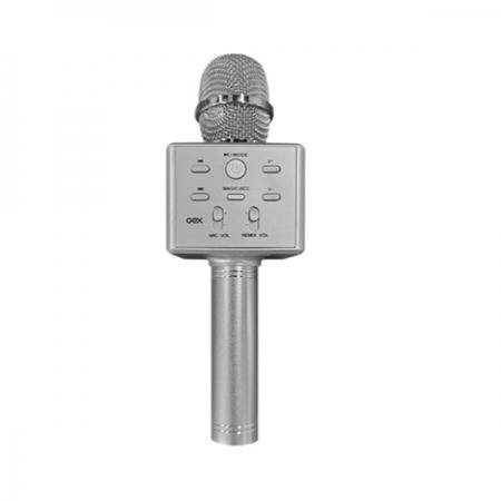 Microfone Bluetooth com Tecnologia TWS OEX MK101 Cinza