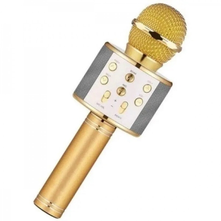 Microfone Infantil Karaoke SHOW com Bluetooth Dourado TOYNG 36739