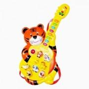 Minha Guitarrinha Infantil Tigre com SONS Animais DM TOYS DMT1861