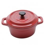 Mini Cacarola Porcelana BLACK LID Vermelho 13CM BON Gourmet 35533