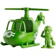 Mini Figura e Veiculo TOY STORY 4 Sarge e Helicoptero Mattel GCY49
