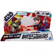 Mini Figuras STAR WARS Battle Bobblers Boba FETT VS HAN Hasbro E8026 14863
