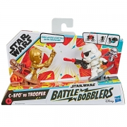 Mini Figuras STAR WARS Battle Bobblers C-3PO VS Trooper Hasbro E8026 14863