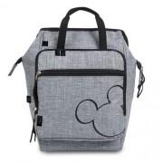 Mochila Maternidade BABY BAG G Casual Luxo Disney Mickey Cinza Babygo 579