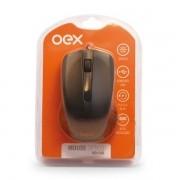 Mouse com Fio 1000 DPI OEX MS100 - Preto