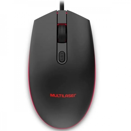 Mouse Gamer Multilaser 2400DPI LED 7 Cores Preto Multilaser MO298