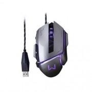 Mouse Gamer Warrior 3.200DPI USB Grafite Multilaser MO262