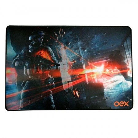 Mouse PAD Gamer Battle Speed Pequeno OEX MP301