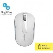 Mouse sem Fio 2.4 GHZ M10 Branco RA008 Rapoo