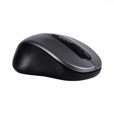 Mouse Wireless 1600 DPI OEX STOCK MS408 Preto e Cinza