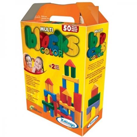 Multiblocks Coloridos 50 Pecas Xalingo 5282.1