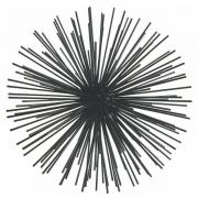 Ouriço Decorativo em Metal Preto Medio MART 12513