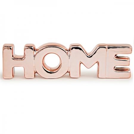 Palavra Decorativa Home em Ceramica Rose GOLD MART 12155