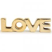 Palavra Decorativa Love em Ceramica Dourado MART 12151