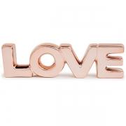 Palavra Decorativa Love em Ceramica Rose GOLD MART 12152