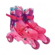 Patins Barbie 3 Rodas F0010-7 com Acessorios FUN 7785-5