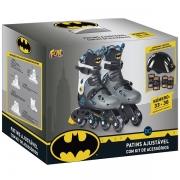 Patins Batman Inline Ajustavel com Acessorios FUN F0011-3