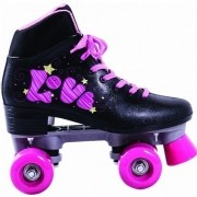 Patins Roller 4 Rodas Quad Love Preto TAM 36 BEL FIX 383600