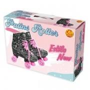 Patins Roller Estilo NEW Preto 4 Rodas Tamanho 32 DM TOYS DMR5860