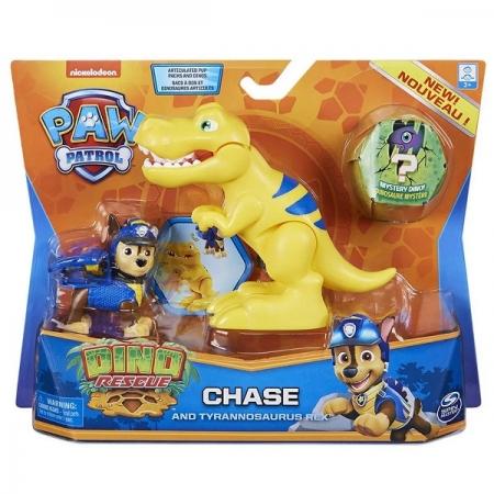 Patrulha Canina Figuras Dino Chase e Tiranossauro REX SUNNY 2270