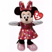 Pelucia Beanie Babies Minnie PINK Brilhante DTC 3718