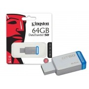 Pen Drive USB 3.1 Kingston DT50/64GB Datatraveler 50 64GB Metal AZUL