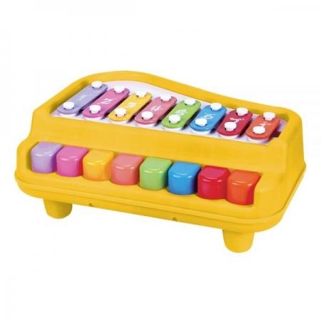 Piano Xilofone BABY Guta Guti Amarelo DM TOYS DMB5803