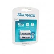 Pilha Recarregavel AA 2500MAH Blister com 2 Multilaser CB053