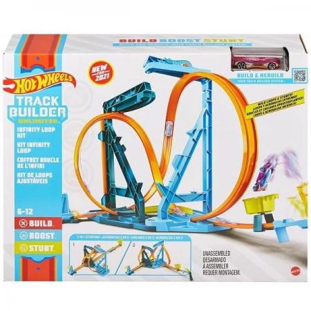 Pista de Percurso HOT Wheels TRACK Builder KIT Loop Infinito Mattel GVG10