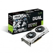Placa de Video ASUS Geforce GTX 1070 OC 8GB DDR5 256BITS - DUAL-GTX1070-O8G