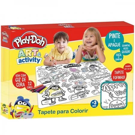 Play DOH Tapete para Colorir com GIZ de Cera FUN F0054-4