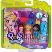 Polly Pocket 3 Bonecas KIT ONDAS Malucas Mattel GFR09