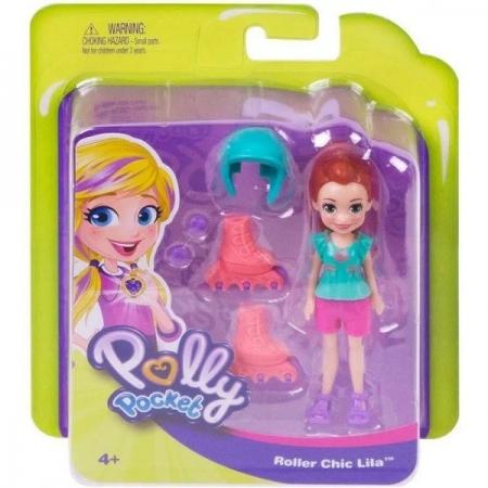 Polly Pocket Atividades Lila Patins Mattel FTP67