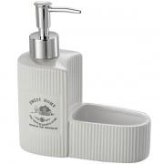 Porta Detergente e Esponja em Ceramica Sweet Home LYOR 8137