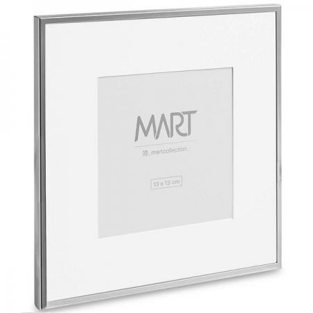 PORTA-RETRATO 13X13 Prata em Metal MART 11391