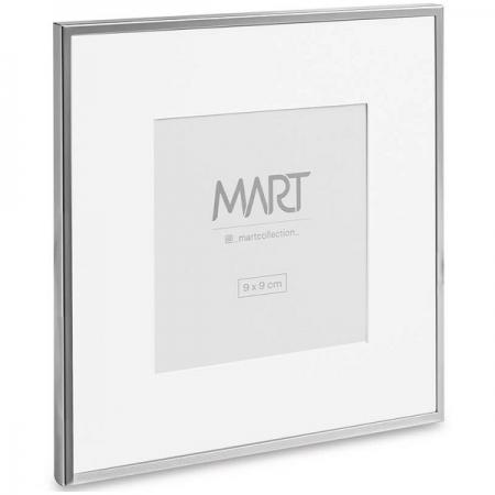PORTA-RETRATO 9X9 em Metal Branco MART 11387