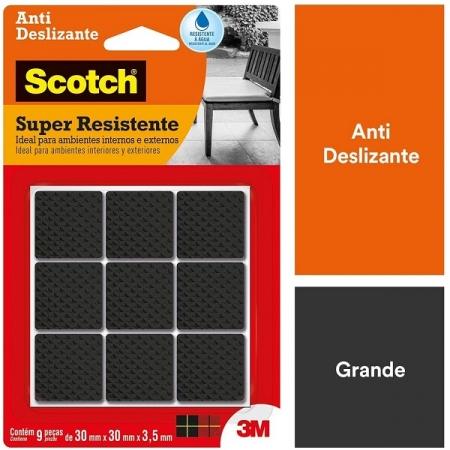 Protetor ANTI Deslizante Quadrado G 30MM X 30MM X 3,5MM com 9 SCOTCH 3M