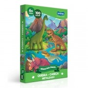 QUEBRA-CABEÇA 100 Peças Reino dos Dinos Metalizado Toyster 2720