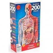 QUEBRA-CABEÇA 200 Peças Corpo Humano GROW 03937
