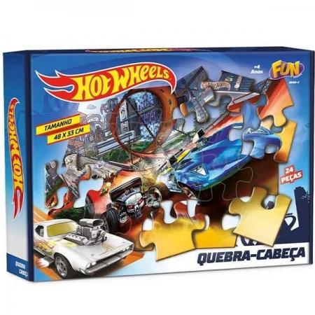 QUEBRA-CABEÇA 24 Peças Cartonada HOT Wheels FUN 8689-0