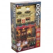 QUEBRA-CABEÇA 500 Peças Cafe em Paris GROW 03965
