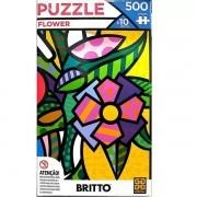 QUEBRA-CABEÇA 500 Peças Romero Britto Flower GROW 03946