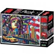 Quebra Cabeça 500 Peças Super 3D Modelo NEW YORK CITY Multikids BR1055